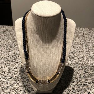 Jewelry - Blue and gold rope necklace